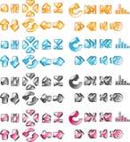 Flechas y botones del jugador Imagen de archivo