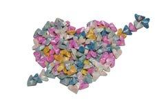 Flechas   y corazones en el fondo blanco Imagenes de archivo