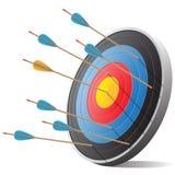 Flechas y ejemplo del vector de la blanco Imagen de archivo libre de regalías