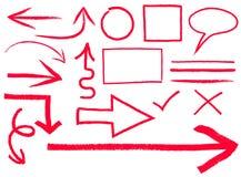 Flechas y marcos Imagenes de archivo