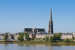 Fleche de Saint Michel au Bordeaux, France Images libres de droits
