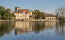 Flechtingen water castle in Saxony-Anhalt. Flechtingen water castle in Saxony Anhalt, Germany Stock Photography