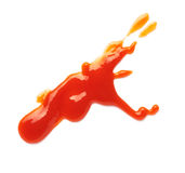Fleck пятна кетчуп стоковое фото rf