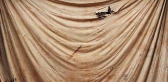 Fleck auf altem braunem Stoff für Hintergrund stockfoto