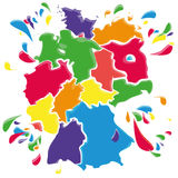 Flecke und Flecken mit Deutschland Lizenzfreie Stockfotos
