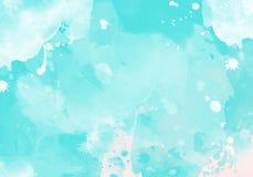 Fleckenwasser-Farbgrafik-Farbbürste streicht Flecken Stockbilder