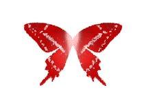 Fleckglas des Flügel-Schmetterlinges rote Farbauf weißem Isolat Lizenzfreies Stockbild