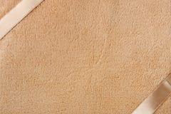 Fleece blanket as background. Texture of fleece blanket with ribbons for use as background Stock Photography