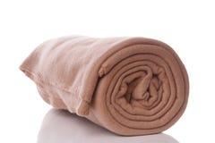 Fleece blanket. Beige fleece blanket with reflection Royalty Free Stock Images