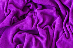 Fleece cotton texture fabric Royalty Free Stock Image