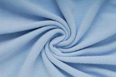 Fleece textile, beautiful shape, blue cloth,. Soft material Stock Photography