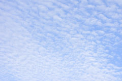 Fleecy clouds Stock Images