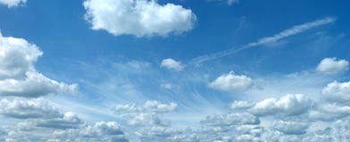 Fleecy clouds XXL Royalty Free Stock Images