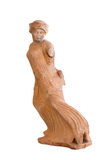 Fleeing maiden ancient Greek statuette from Eleusis (490 BC) Stock Photography