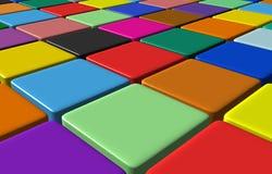 Fleeing tiles Stock Photography