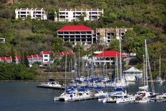 Tortola Water Front royalty free stock photography