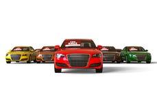 fleet of car royalty free illustration