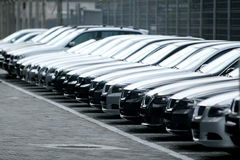 Fleet of cars royalty free stock photo