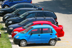 Fleet of cars Royalty Free Stock Images