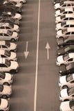 Fleet of cars Stock Photo