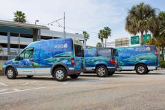 Fleet Of The Florida Aquarium. A fleet of vehicles of The Florida Aquarium royalty free stock image