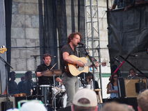Fleet Foxes. Christian Wargo and drummer J. Tillman at 3017 Newport Folk Festival royalty free stock images