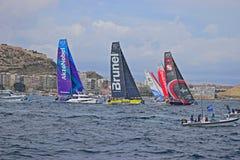 Tight Racing Volvo Ocean Race Alicante 2017 Stock Images