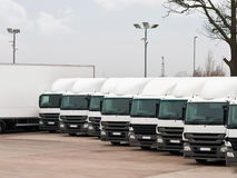 Fleet lorries Royalty Free Stock Images