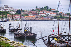 Fleet Of Port Boats On The Douro River Royalty Free Stock Image