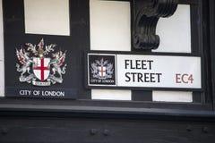 Fleet Street à Londres images libres de droits