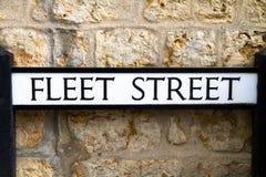 Fleet Street road sign. Dorset , UK Royalty Free Stock Images