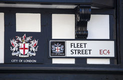 Fleet Street sign in the City of London Stock Photo