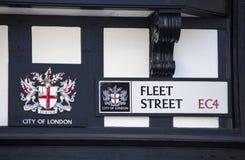 Fleet Street sign in the City of London Stock Photo