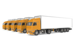 Fleet of Trucks. Fleet of Trucks, side view.  Part of Warehouse and Logistics Series Stock Images