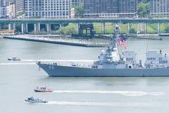 Fleet Week NYC 2016 -  USS Bainbridge Royalty Free Stock Photo