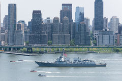 Fleet Week NYC 2016 -  USS Bainbridge Royalty Free Stock Images