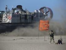 Fleetweek San Francisco. United States Marines landing at San Francisco Ocean Beach Royalty Free Stock Photos