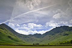 Fleetwith Pike & Haystacks. As seen from the Western end of Buttermere in the English Lake District stock photography