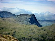 Fleetwith Pike seen from Rosthwaite Fell Royalty Free Stock Images