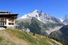 Flegere station and Mont-Blanc in the Alps, France Stock Photos