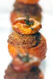 Fleisch-angefüllte Tomaten Stockbild
