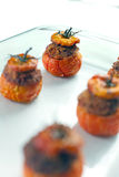 Fleisch-angefüllte Tomaten Lizenzfreie Stockbilder