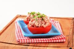 Fleisch-angefüllte Tomaten Lizenzfreie Stockfotos
