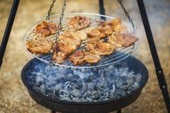 Fleisch auf dem Grill Lizenzfreie Stockbilder