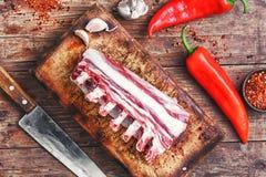 Fleisch auf der Rippe des Lamms Lizenzfreies Stockbild