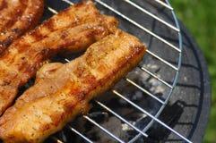 Fleisch auf einem BBQ Lizenzfreie Stockfotos