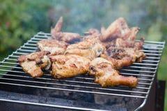 Fleisch auf Grill Lizenzfreie Stockbilder