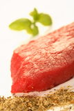 Fleisch, Basilikum und Gewürz Stockfotos