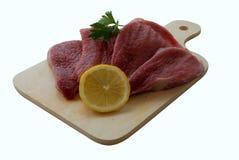 Fleisch an Bord Lizenzfreies Stockbild