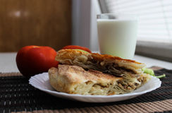 Fleisch burek Stockfotos
